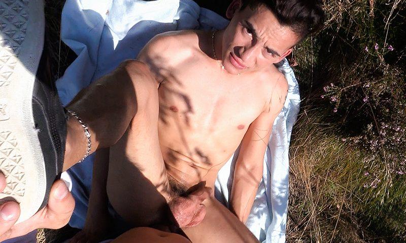 Teenage boy fucked raw in public park