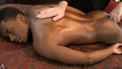 Black guy get Erotic massage
