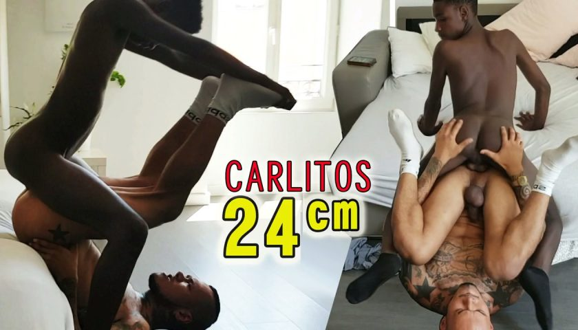 Black teenboy Carlitos with Latino Porn Star
