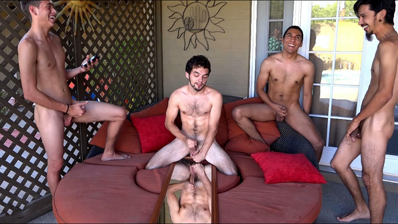 Spunku introduces us for a horny interracial jerk off contest