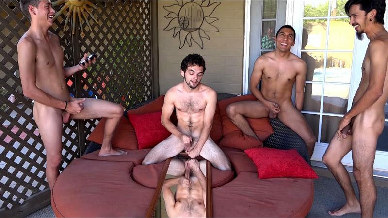 Spunku introduces us for a horny interracial jerk off contest