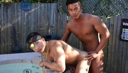 Jessie Lee and Alex Chu