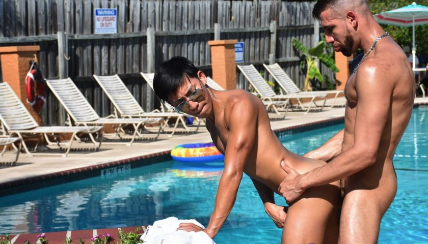 David Ace fucked by FX Rios at the poolside