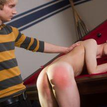 Caleb Gray spanked